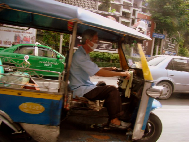 tuk tuk in full gear