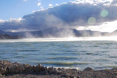 Mist rising on the lake