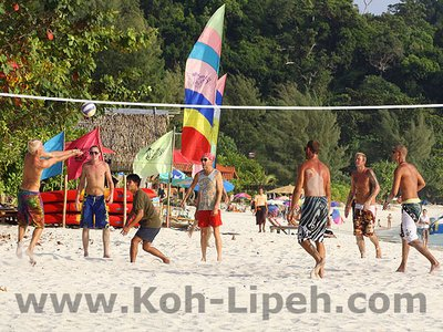evening volleyball on Pattaya beach