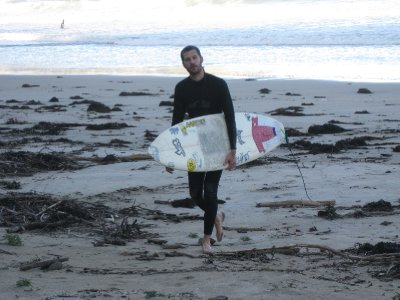 Rob's first time surfing