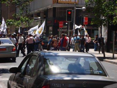Favoriete bezigheid van de Chilenen: demonstreren!
