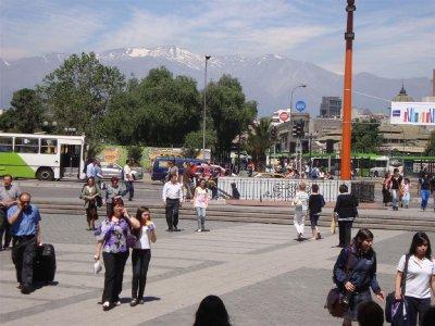 Andes op de achtergrond