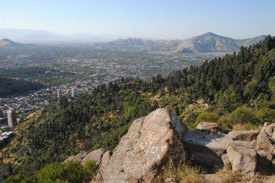 Uitzicht over Santiago