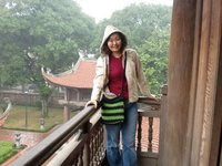 In one of the many temples in Hanoi