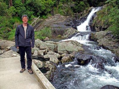 Tim on Kaiate bridge