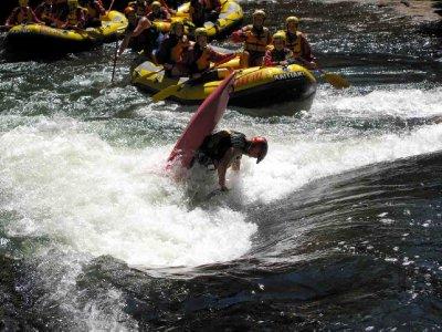 Okere Falls kayaker