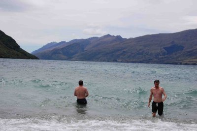 Queenstown Tim Paul Christmas Day swim