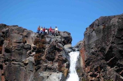 Tongariro Atop Taranaki Falls