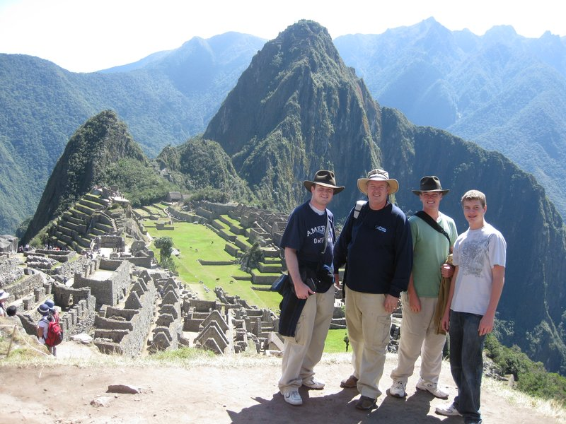 Family Photo of Machu Picchu