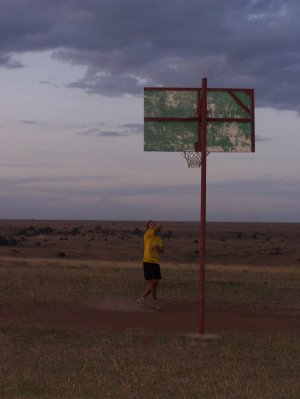 Basketball on Kenyan hilltop