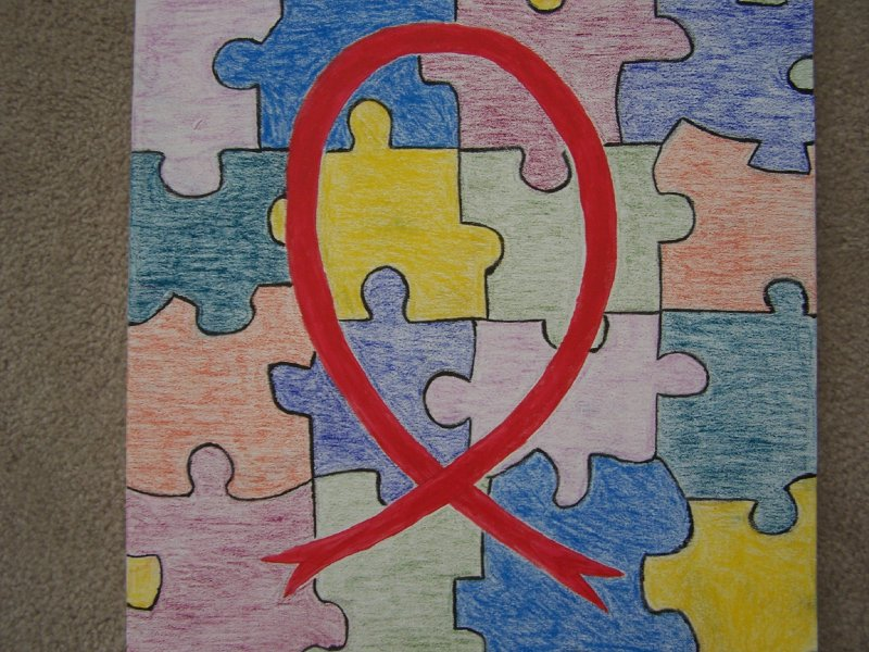 Aids Ribbon Puzzle