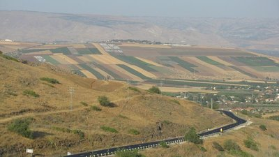Yavneel valley in Israel - road to the sea of Galilee