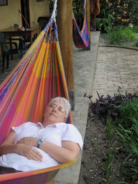 Jenice in hammock in Vilcabamba.
