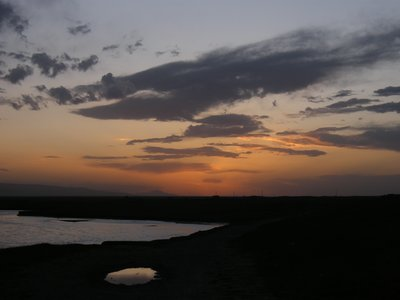 Dusk around Qinghai lake