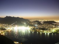 Rio by night from sugar loaf mountain