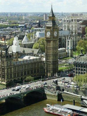 Big Ben as see from the London Eye