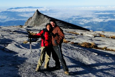 Us and the classic shot of Mt. Kinabalu