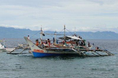 Docked boat, Padre Burgos