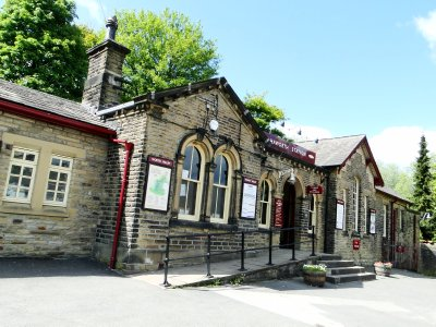 Railway Station at Hebden Bridge town