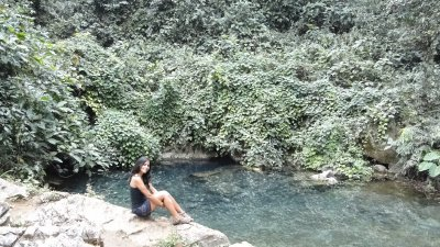Me in the blue water spring...