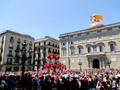 Castells in Plaza Jaume