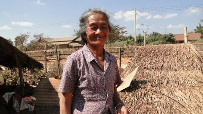 Local lady at the Rice Whiskey Village