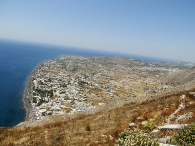 Perissa as seen from Ancient Thira