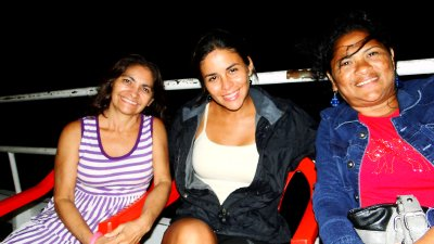 Leti, Me and Gildete on the boat to Belm