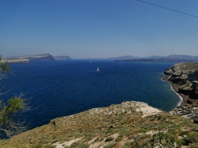 Near Faros, South end of Santorini