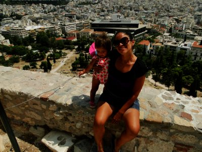 Ylla and I on a viewpoint, Acropolis