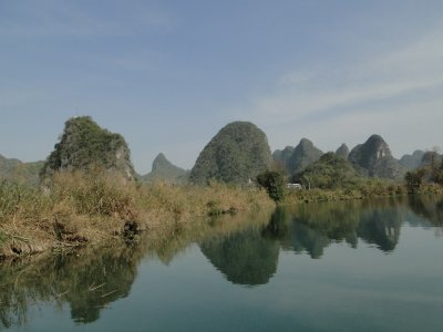 Karst reflections on the Yulong River