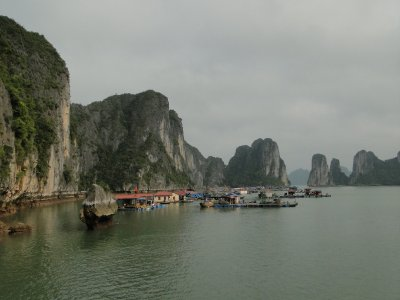 Floating town in Ha Long Bay
