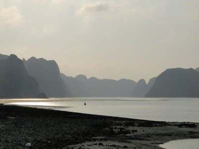 Sunset on arrival, Cat Ba Island