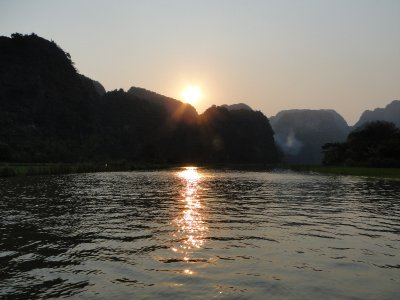 Sunset in Tam Coc