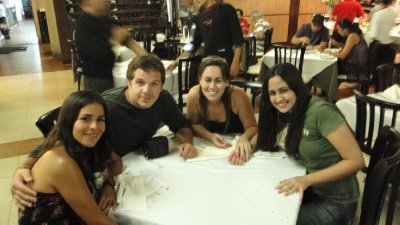 Rodizio in Recife with Lenira and her little sister Isabella.