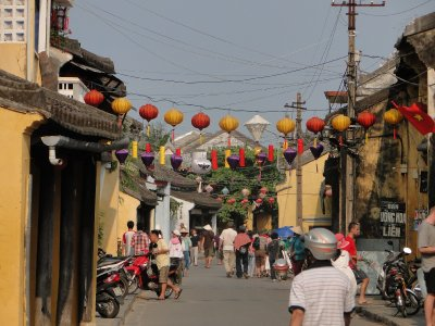 Hoi An typical shopping street