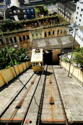 Cable car in Pelourinho, Salvador