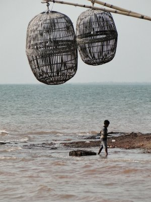 Crab cages in Kep