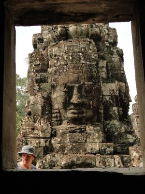 Jay&#39;s face in Bayon, Angkor Archaeological Park