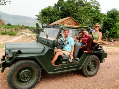 Riding a Jeep with Scott and Babs