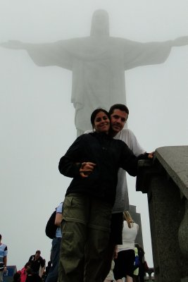 At Christ's feet, in Corcovado