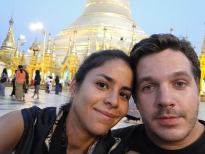 Us in Shwedagon Pagoda, Yangon
