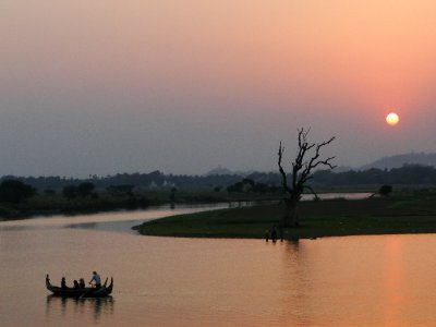 Sunset at U Bein&#39;s Bridge II, Amarapura