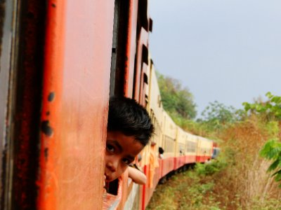 Boy on the train to Hsipaw, Shan State