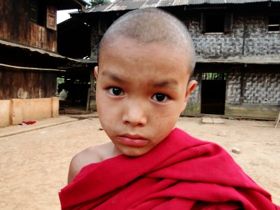 Young Buddhist monk from a remote Village, Shan State