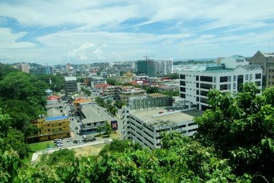 Kota Kinabalu City as seen from a viewpoint
