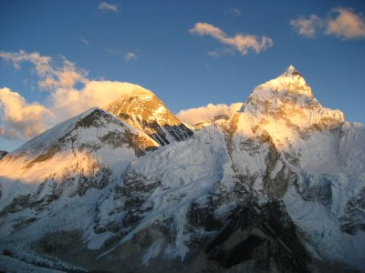 Sunset on Everest and Nupse