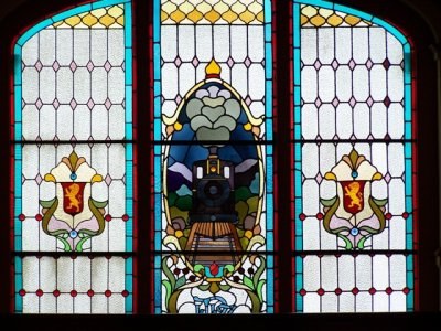 Dunedin Railway Station Stained Glass Window