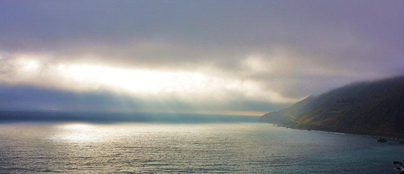 Big Sur sun