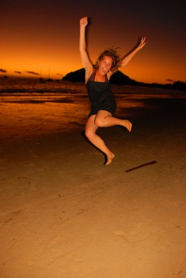 Jumping at sunset